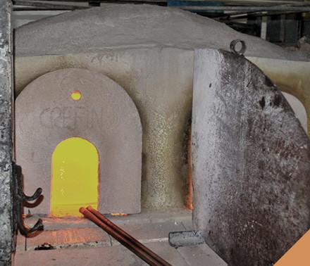 la fornace della vetreria Busato