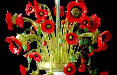 Vetreria Busato Glasses - lampadario papaveri