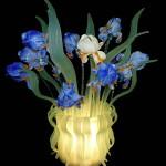 Vetreria Busato Glasses - lampada da tavolo Iris Van Gogh