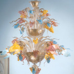 Vetreria Busato Glasses - Lampadario acquatico floreale