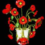 Vetreria Busato Glasses - applique Papaveri Van Gogh