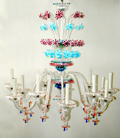 Vetreria Busato Glasses - Lampadario Arlecchino veneziani