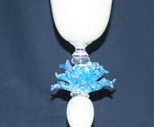 Vetreria Busato Glasses - Calice con fiori veneziani