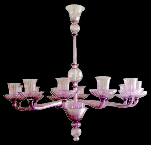 Vetreria Busato Glasses - Lampadario coppe di fiori