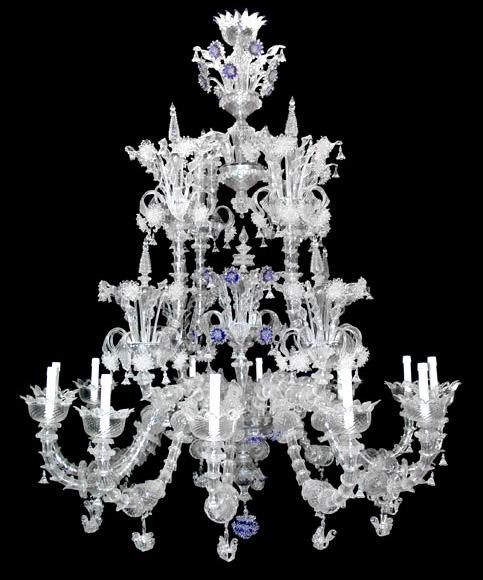 Vetreria Busato Glasses - Lampadario Rezzonico crystal diamond