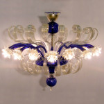 Vetreria Busato Glasses - disco di luce fiori di luce
