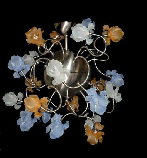 Vetreria Busato Glasses - Lampadario fiori di acciaio moderno