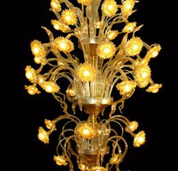Vetreria Busato Glasses - plafoniera girasoli luminosi fiori di luce