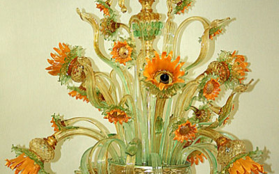 Vetreria Busato Glasses - Lampadario girasoli