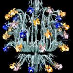 Vetreria Busato Glasses - Lampadario Iris Zeus 45 luci