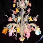 Vetreria Busato Glasses - Lampadario Iris colorato floreale