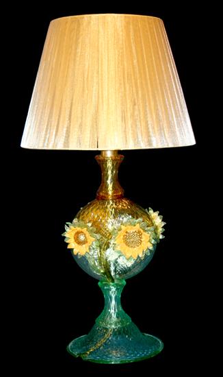 Vetreria Busato Glasses - Lampada da tavolo con girasoli