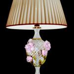 Vetreria Busato Glasses - Lampada da tavolo con rose