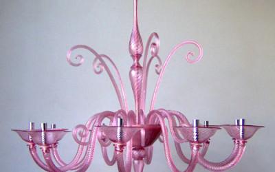 Vetreria Busato Glasses - Pantera rosa moderno