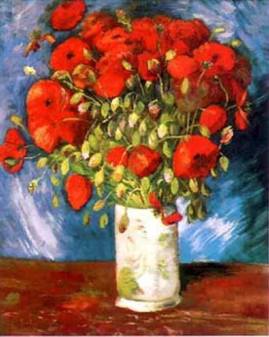 Mazzo Di Fiori Van Gogh.Lampada Papaveri Di Van Gogh In Vetro Di Murano