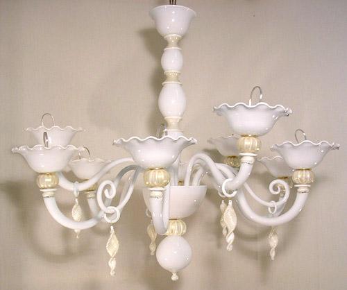 Vetreria Busato Glasses - perla bianca