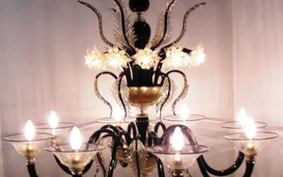 Vetreria Busato Glasses - piramide di luce fiori di luce