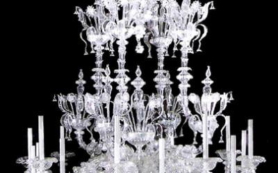Vetreria Busato Glasses - Lampadario Rezzonico diamante cristallo