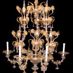 Vetreria Busato Glasses - Lampadario Rezzonico dorato