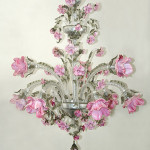 Vetreria Busato Glasses - Lampadario roseto floreale