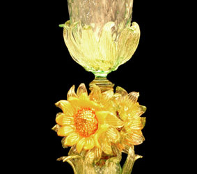 Vetreria Busato Glasses - Vaso tipetto girasoli