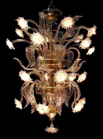 Vetreria Busato Glasses - torre di luce fiori di luce