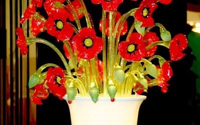 Vetreria Busato Glasses - Vaso lampada papaveri Van Gogh