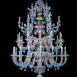 Vetreria Busato Glasses - Lampadario Rezzonico di vetro di Murano