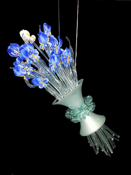 Vetreria Busato Glasses - Lampadario Iris di vetro di Murano