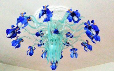 Plafoniera Iris Blu 2
