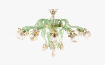 Plafoniera Iris Bianchi 15 luci