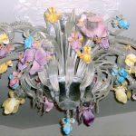Plafoniera iris colorati