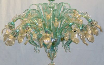 Plafoniera Iris Cristallo oro