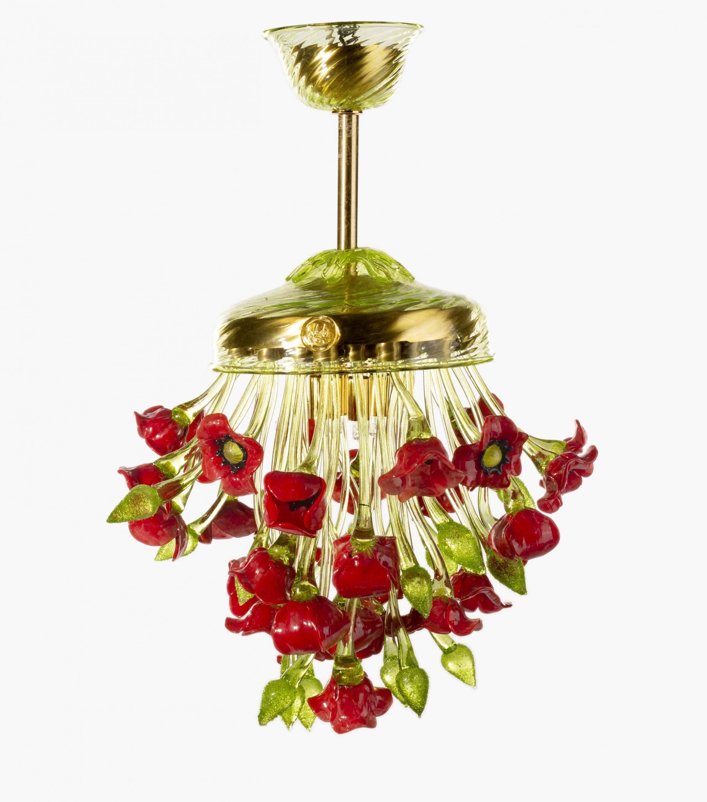 Lampadario Bouquet di Papaveri