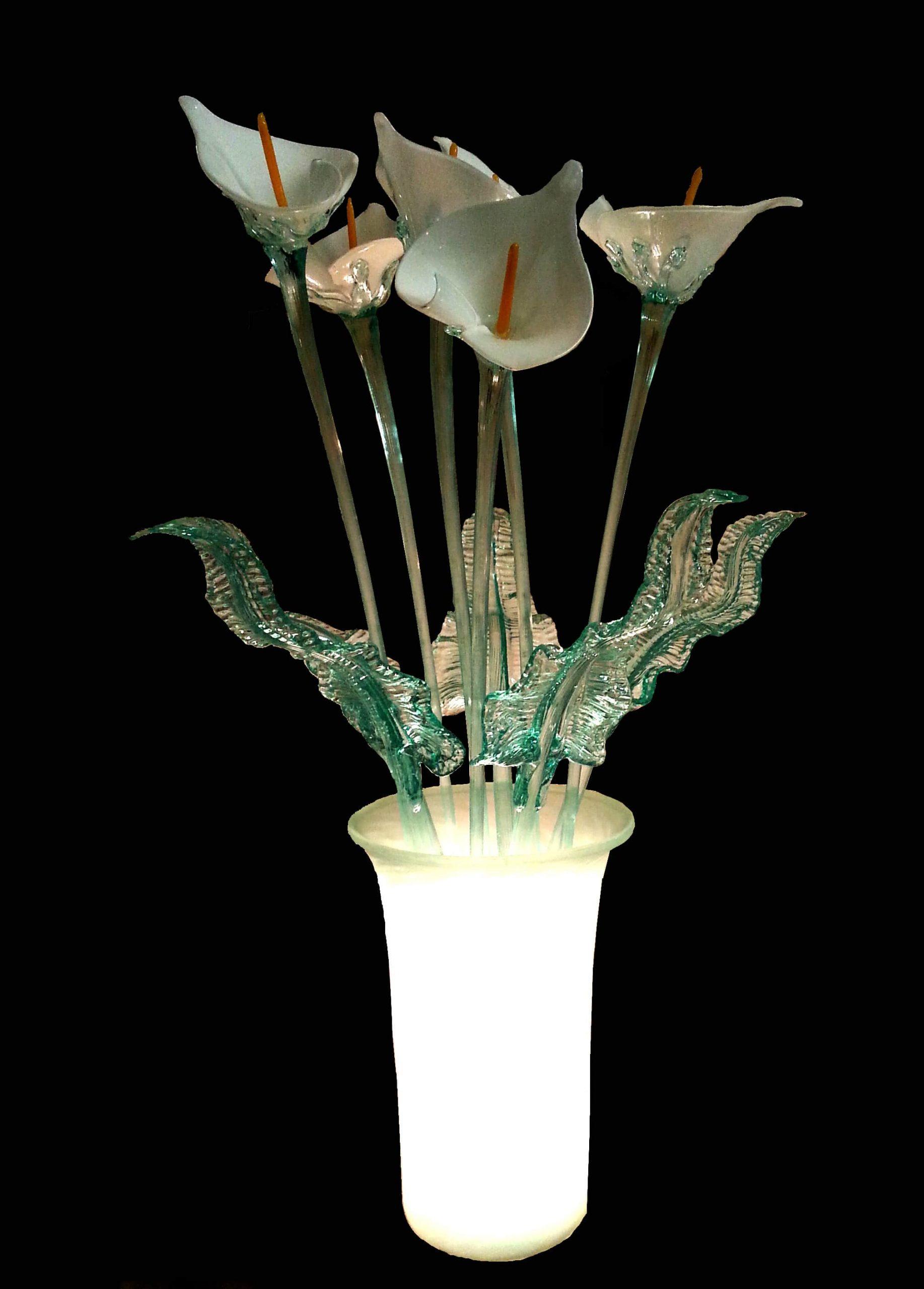 Vaso lampada Calle bianche