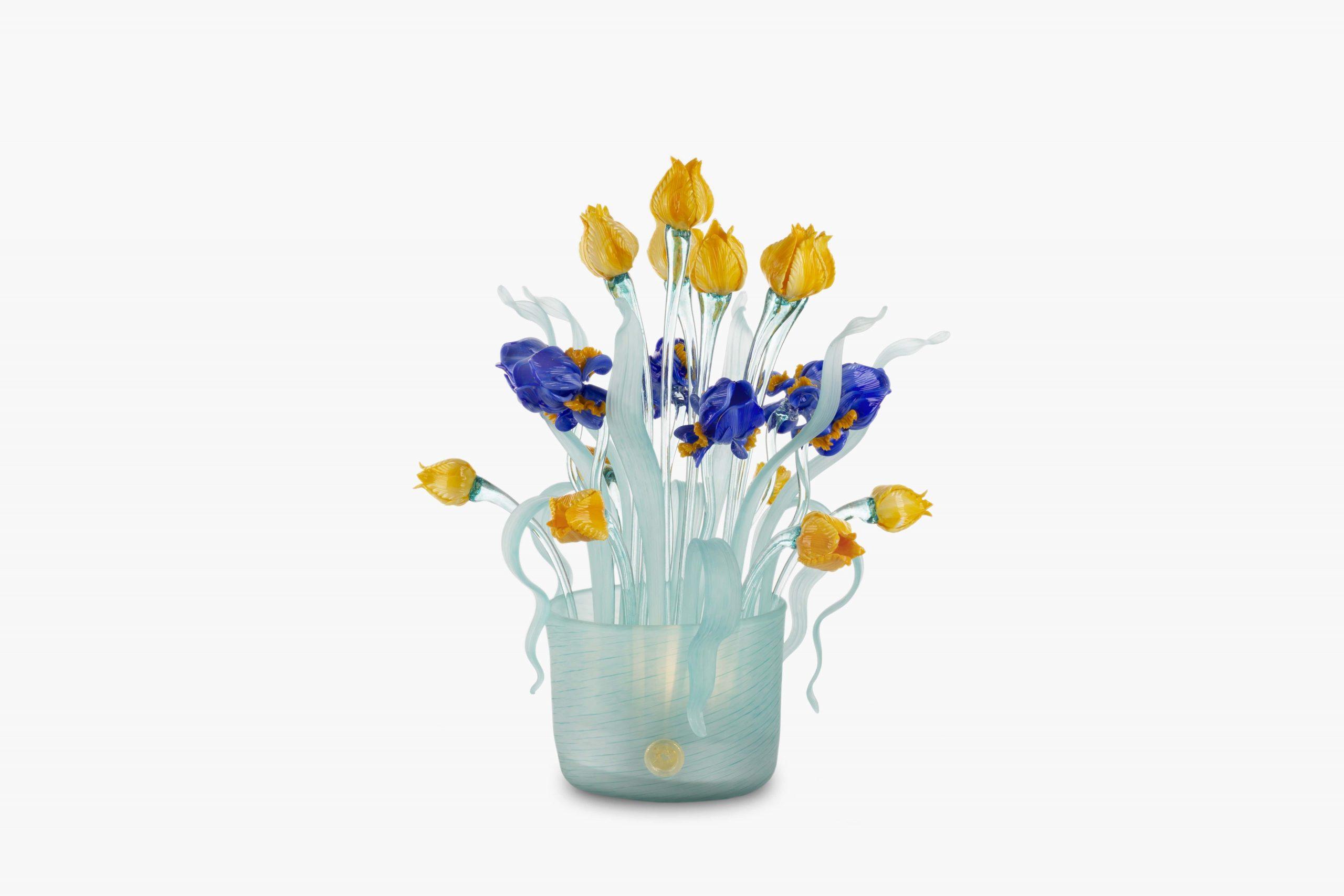 Vaso lampada Iris e Tulipani