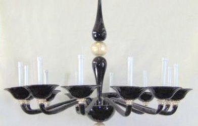 Lampadario perla nera